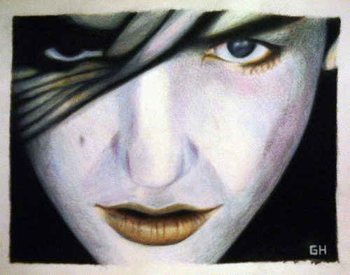Brian Molko (2004) - Sketch By River Hunt