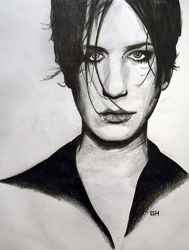Brian Molko From Placebo - Sketch By River Hunt