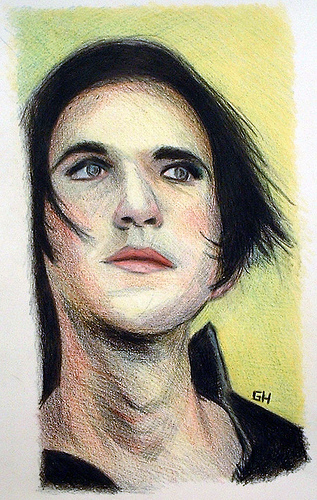 Brian Molko From Placebo (2004) - Sketch By River hunt