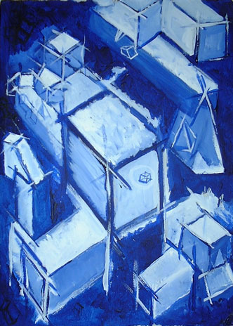 Cubes (2003) - Painting By River Hunt