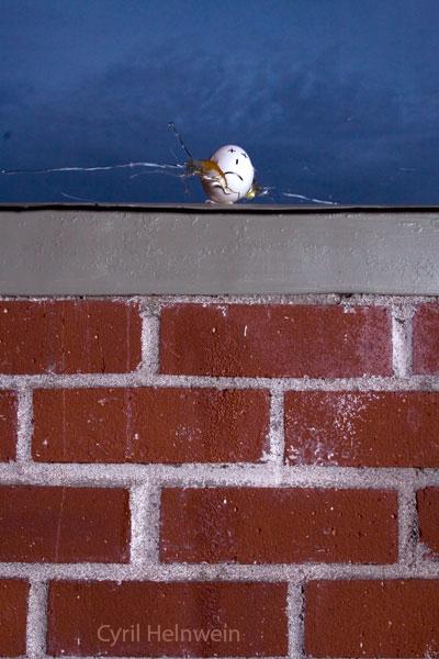 """Assassination of Humpty Dumpty"", photograph by Cyril Helnwein"
