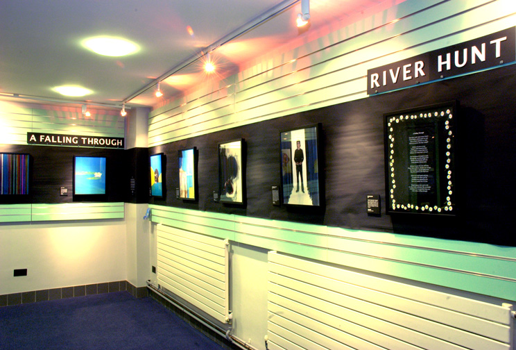 Civic Hall Art Exhibition - River Hunt - A Falling Through