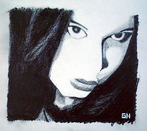 Jenna (2003) - Drawing By River Hunt