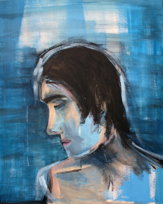 A PORTRAIT IN BLUE (CAUGHT IN BETWEEN), 2010
