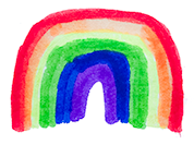 stronger, together rainbow